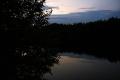 Канал, ночная туча