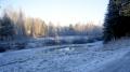 Река замерзает