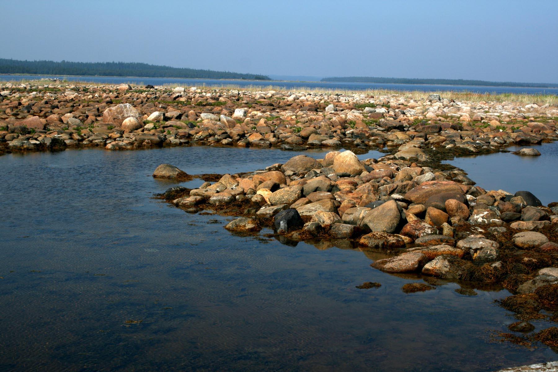 Морской берег на Муксалме