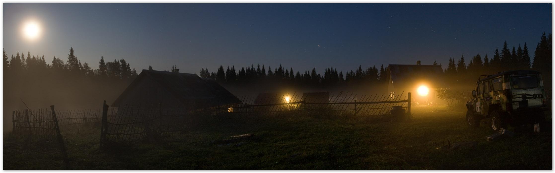 Лунная ночь на хуторе