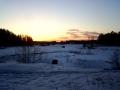 Унылый зимний закат