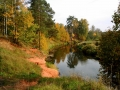 Красный берег осенью