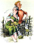 Виктор Петухов. Веселые иллюстрации к сказкам. Полюбил Андрияшка Парашку...